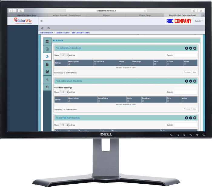 MainWiz Industry 4.0 CMMS supports Instrument Calibration and certificate generation.